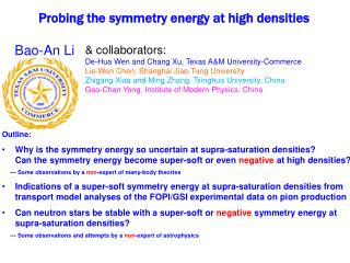 Probing the symmetry energy at high densities