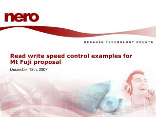 Read write speed control examples for Mt Fuji proposal