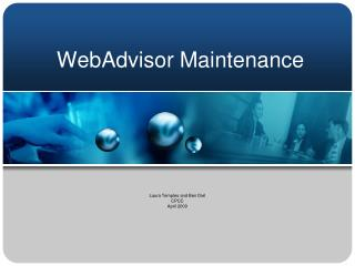 WebAdvisor Maintenance