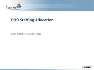 D&D Staffing Allocation