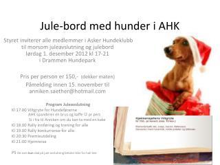 Jule-bord med hunder i AHK