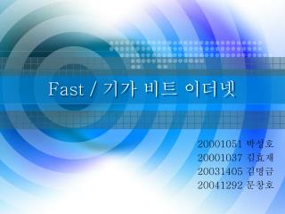 Fast /  기가 비트 이더넷