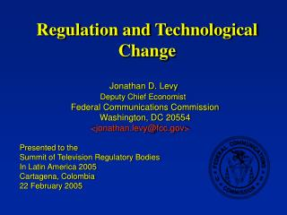 Regulation and Technological Change