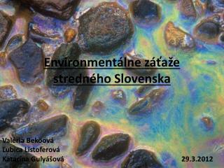 Environmentálne záťaže stredného Slovenska