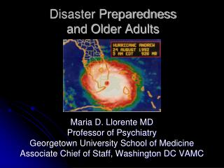 Disaster Preparedness  and Older Adults