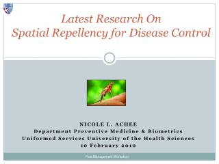 Latest Research On  Spatial Repellency for Disease Control