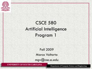 CSCE 580 Artificial Intelligence Program 1