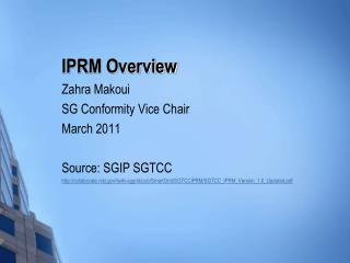IPRM Overview