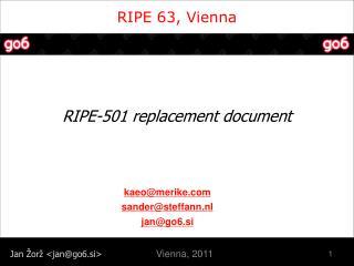 RIPE 63, Vienna