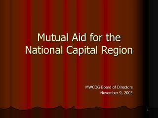Mutual Aid for the National Capital Region