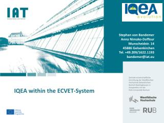 IQEA within the ECVET-System