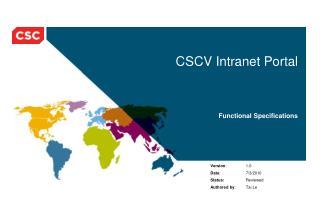 CSCV Intranet Portal