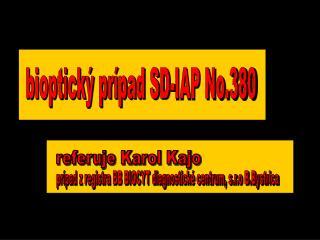 bioptický prípad SD-IAP No.380