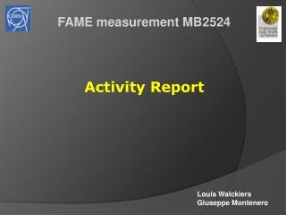 FAME measurement MB2524