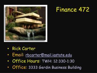 Finance 472