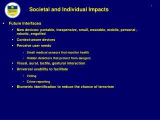 Societal and Individual Impacts