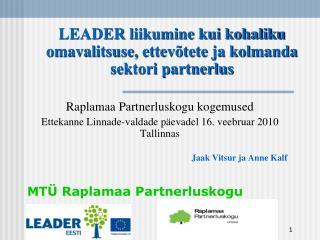 MTÜ Raplamaa Partnerluskogu