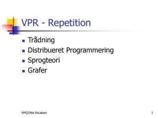 VPR - Repetition