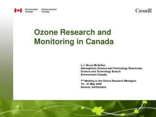 Ozone Research and Monitoring in Canada