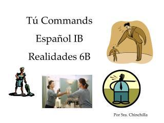 T�  Commands Espa�ol IB Realidades  6B