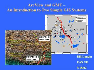 ArcView and GMT –  An Introduction to Two Simple GIS Systems