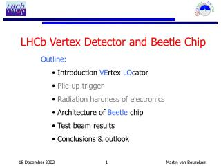 LHCb Vertex Detector and Beetle Chip