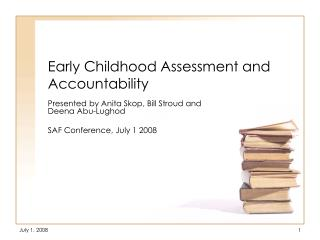 Early Childhood Assessment and Accountability