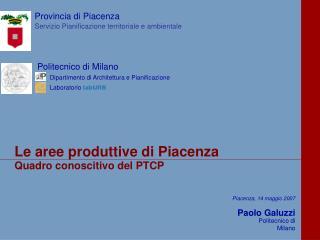 Quadro conoscitivo del PTCP