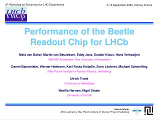 Performance of the Beetle Readout Chip for LHCb