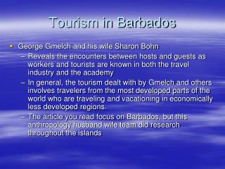 Tourism in Barbados
