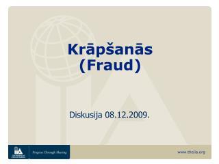 Krāpšanās  (Fraud)