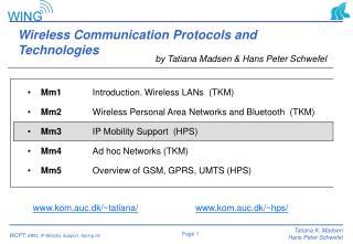 Wireless Communication Protocols and Technologies