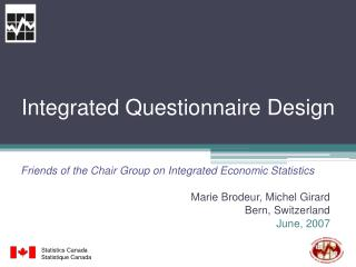 Integrated Questionnaire Design