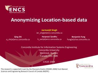 Anonymizing Location-based data