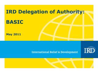 IRD Delegation of Authority: BASIC