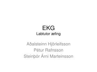 EKG  Labtutor æfing