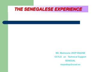 THE SENEGALESE EXPERIENCE