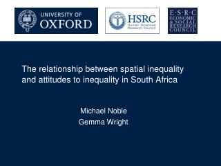 The relationship between spatial inequality and attitudes to inequality in South Africa