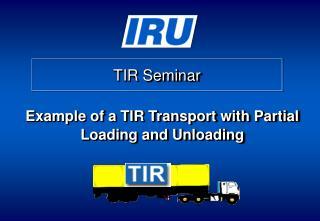 TIR Seminar