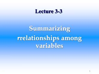 Lecture 3-3