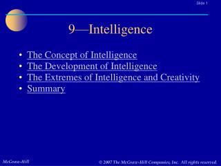 9—Intelligence