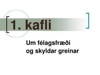 1. kafli