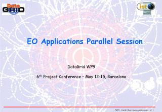 EO Applications Parallel Session