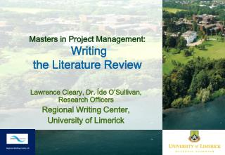 Masters in Project Management: Writing  the Literature Review