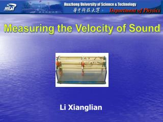 Measuring the Velocity of Sound
