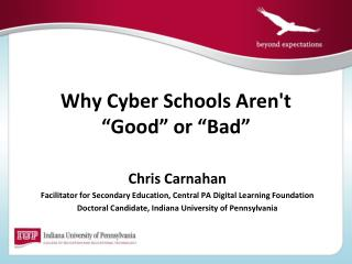 "Why Cyber Schools Aren't ""Good"" or ""Bad"""