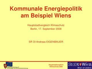 Kommunale Energiepolitik am Beispiel Wiens