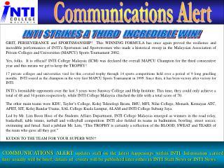 Communications Alert
