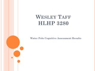 Wesley  Taff HLHP 3280