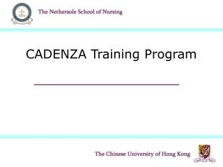 CADENZA Training Program